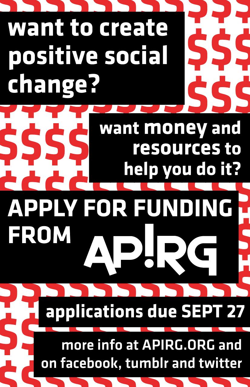 APIRGs FALL Funding Round  2014